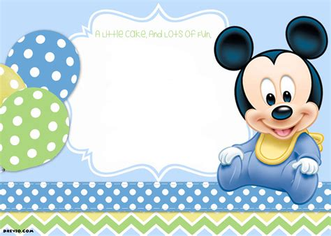 mickey mouse st birthday invitations