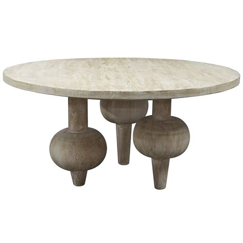 vern modern classic orb reclaimed wood round dining table