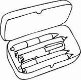 Coloring Pencil sketch template