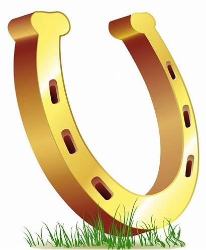 Horseshoe Clipart Clip Luck St Horse Gold