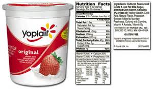 Strawberry Yoplait Light Yogurt Nutrition