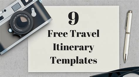 travel itinerary templates vacation trip