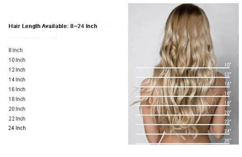 hair extensions length guide types  hair extensions