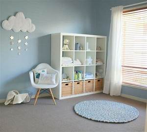 decoration chambre bebe garcon en bleu 36 idees cool With exemple de decoration de jardin 4 deco chambre bebe jungle