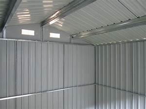 Geräteschuppen Aus Metall : gartenhaus ger teschuppen 6 65m 2 57x2 59m aus verzinktem stahlblech metall gr n alles f r ~ Buech-reservation.com Haus und Dekorationen