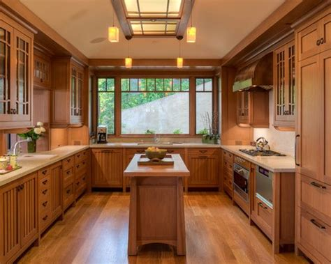 craftsman style cabinets home design ideas pictures remodel  decor
