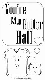 Butter Coloring Half Re sketch template