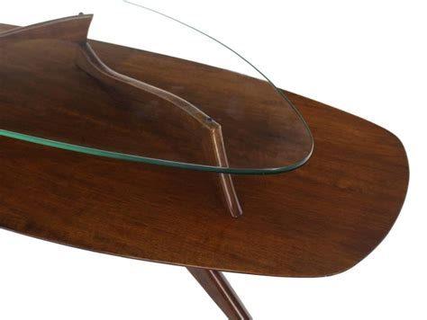 two tier glass coffee table walnut and glass two tier oval coffee table for sale at