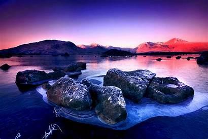 Frozen Lake Winter Stunning Morning Hdr Wallpapers