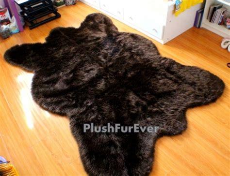 big fur rug 5 x 7 big brown faux fur rug chocolate bearskin rug