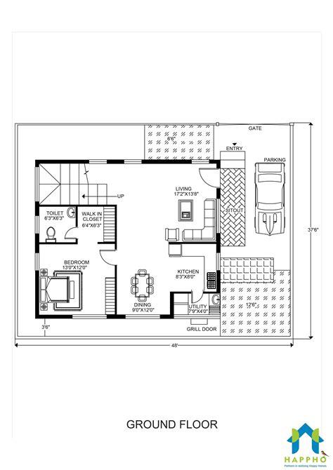 floor plan     plot  bhk  square feet squareyards happho