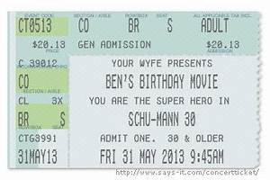 53 best hubby love images on pinterest my wife families and gift ideas With make your own concert tickets