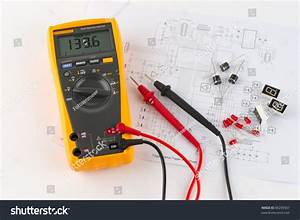 A True Rms Multimeter And A Circuit Diagram Stock Photo 86299567   Shutterstock