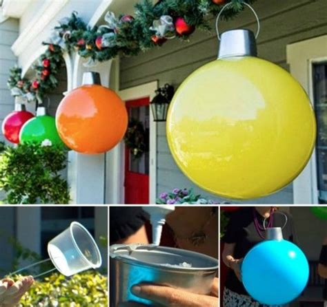 how to make giant christmas ornaments pictures photos