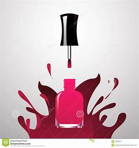 Pink Nail Polish Clipart - Clipart Suggest