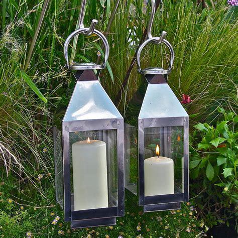copper lanterns for candles st mawes hurricane garden lantern by garden trading