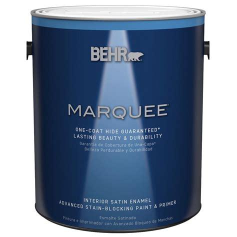 behr marquee 1 gal base satin enamel interior paint 745301 the home depot
