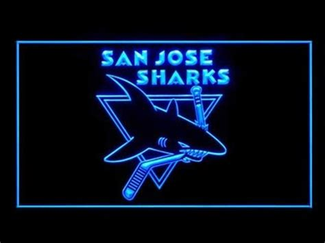 san jose sharks hockey decor led light sign b for the