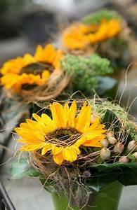 Tischdeko Mit Sonnenblumen : blumen tischdeko eine frische idee deko feiern ~ Lizthompson.info Haus und Dekorationen