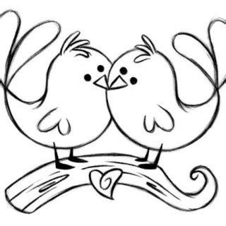 Love Bird Drawings Easy