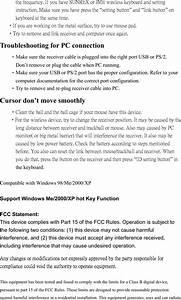 Sunrex Technology 0410 Wireless Keyboard User Manual Rk0410