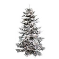 buy holiday time pre lit 7 5 winter flocked fir artificial christmas tree green with white