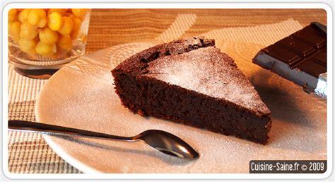 recette sans gluten g 226 teau au chocolat sans beurre sans farine cuisine saine sans