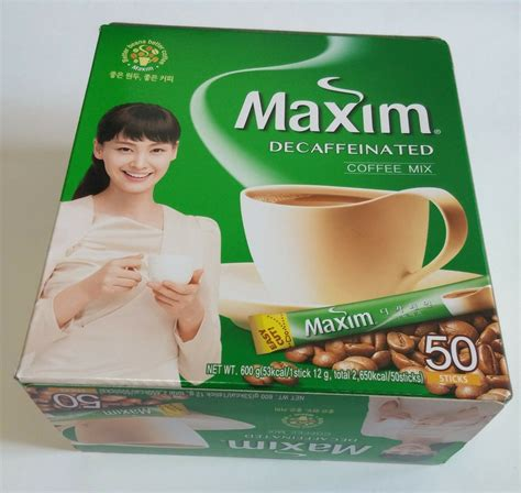 They have different flavours available but the maxim mocha gold mild is by far the most popular one. Korean Instant Maxim Decaffeinated Coffee Mix Collection 50 Sticks