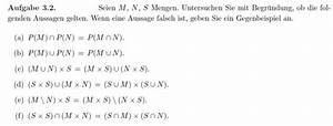 Auflagerreaktion Berechnen : mengenlehre aussagen von mengen untersuchen mathelounge ~ Themetempest.com Abrechnung