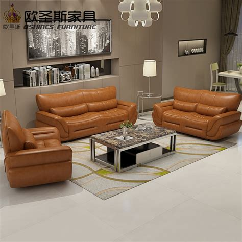2019 New Design Italy Modern Leather Sofa Soft Comfortable