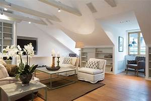 Beautiful, Attic, Living, Room, Design, 7796
