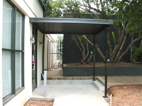 metal awnings overhead deck canopies  standing seam