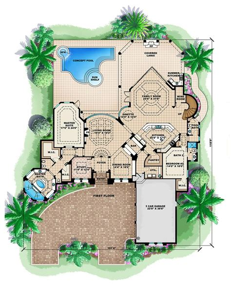 swimming pool house plans small house plan small swimming pools tribelle co modern house house plans with pools courtyard