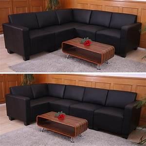Sofa Kunstleder Schwarz : modular sofa system couch garnitur lyon 5 kunstleder schwarz ~ Orissabook.com Haus und Dekorationen