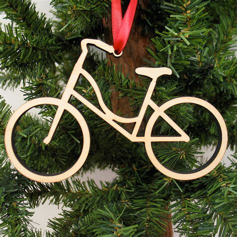 Bike Wooden Christmas Ornament Boy Or Girl  Graphic Spaces
