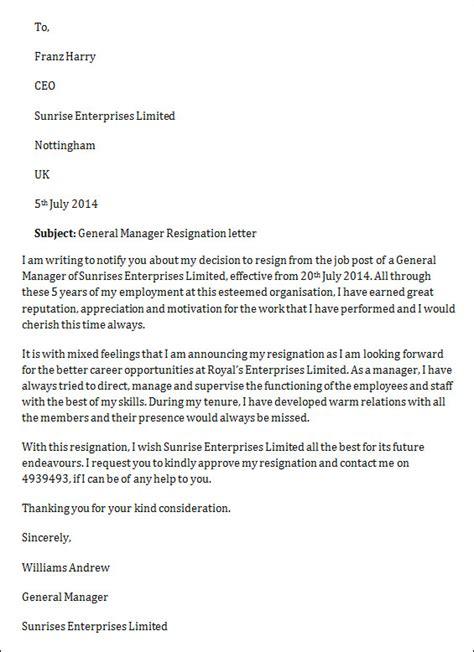 sample job resignation letter   documents  word