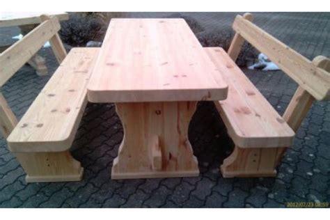 Massive Garten Sitzbank Garnitur Holz In Feldkirchen