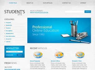 free education website templates 37 free css