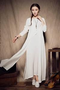 White Linen Wedding Dress White Linen Dresswomens Dresses Tea Length ...
