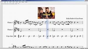 Despacito Luis Fonsi & Daddy Yankee Partitura flauta YouTube