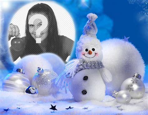 cornice foto natale cornice di natale con un pupazzo di neve per le vostre