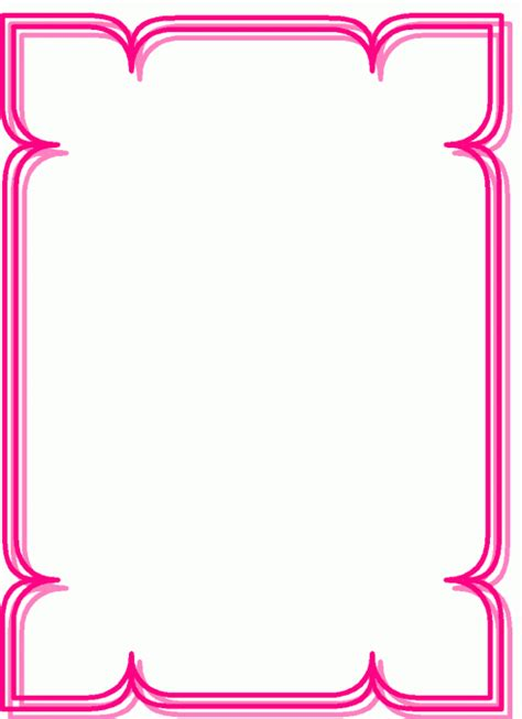 rahmen spitzen innen pink ausmalbild malvorlage rahmen
