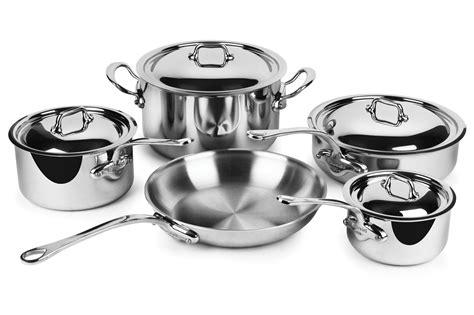 mauviel stainless steel cookware set mcook  piece