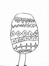 Easter Coloring Egg Samanthasbell sketch template