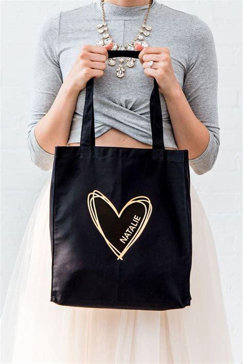 large plain black cotton canvas fabric tote bag   bridal partys
