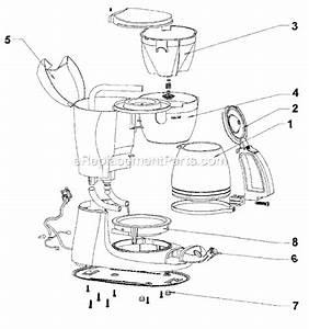 Mr  Coffee Es11 Parts List And Diagram   Ereplacementparts Com