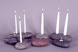 stone lamps candle holders timberstone rustic arts