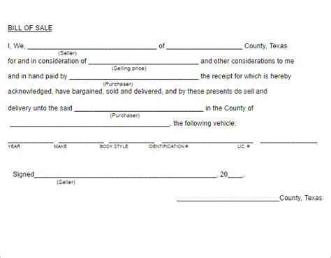 bill of sale form texas pdf 26 bill of sale texas pdf templates free word doc exles