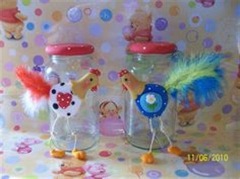 frascos decorados jars polymer clay and fimo