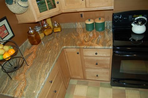 granite countertop colors for maple cabinets